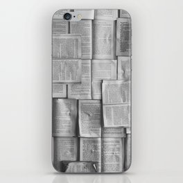 Novels Pattern (Black and White) iPhone Skin