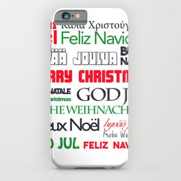 merry christmas in different languages II iPhone Case