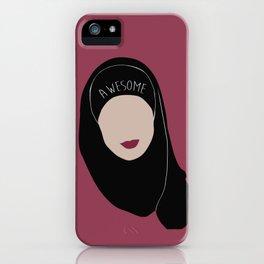 Sana Bakkoush - AWESOME iPhone Case