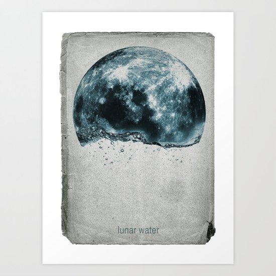 lunar water Art Print