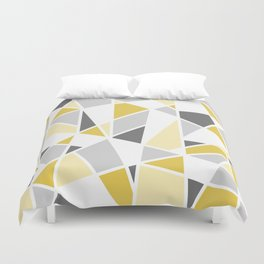 Geometric Pattern in yellow and gray Duvet Cover