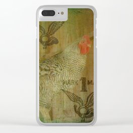 Trademark Barred Rock Rooster Clear iPhone Case