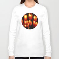 lanterns Long Sleeve T-shirts featuring chinese paper lanterns by kanpai