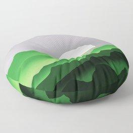 Aromantic Pride Sunrise Landscape Floor Pillow