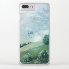 original vintage landscape painting number 11 Clear iPhone Case