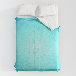 Glare on the water. Abstract Stained glass blue Comforters