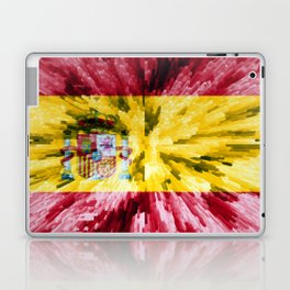 Extruded Flag of Spain Laptop & iPad Skin