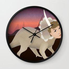 Michael Ceratops Wall Clock
