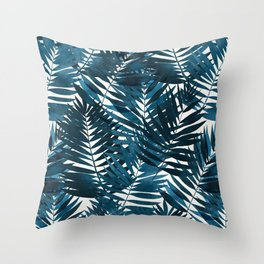Ocean breeze palm // repeat pattern Throw Pillow