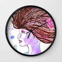 Woman of the Roses Wall Clock
