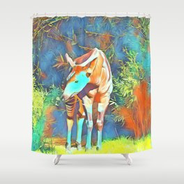Animal ArtStudio 419 Okapi Shower Curtain