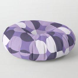 Retro circles grid purple Floor Pillow