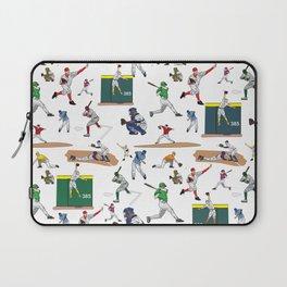 Fun Baseball Players Illustrations Pattern Laptop Sleeve