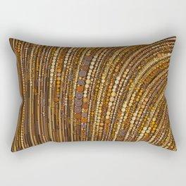 zara - art deco arc arch design in bronze copper gold Rectangular Pillow