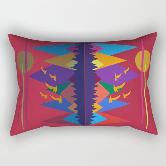Mountain Scene #9 Rectangular Pillow