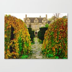 Barnsley House In The Fall Canvas Print