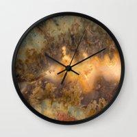 30 rock Wall Clocks featuring Idaho Gem Stone 30 by Leland D Howard