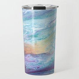 Purple and Blue Abstract Travel Mug