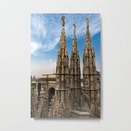 Spire of Doumo di Milano Metal Print