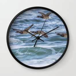 Brent Geese in Flight Wall Clock