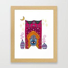 Morocco illustration Framed Art Print