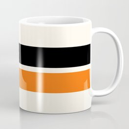 2 Stripes Black Orange Coffee Mug