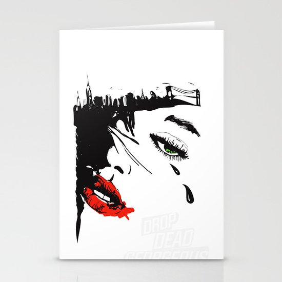 drop dead gorgeous - femme fatale Stationery Cards
