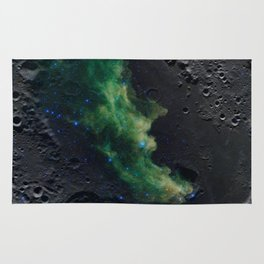 The Witch's Mirror The Dark Side Of The Moon (Mare Moscoviense & Witch Head Nebula) Rug