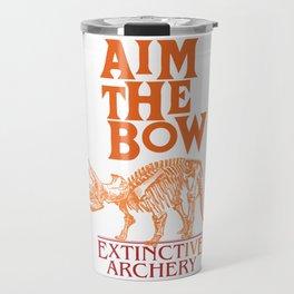 "AIM THE BOW - EXTINCT""IVE"" ARCHERY / 70s RETRO Travel Mug"