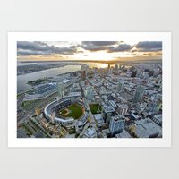 san diego Art Prints featuring San Diego by Travis Payne