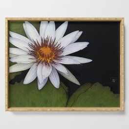 White Water Lily Serving Tray