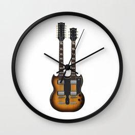 Double Neck Guitar Wall Clock