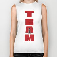 team fortress Biker Tanks featuring TEAM by Steel Graphics