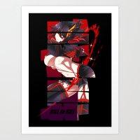 kill la kill Art Prints featuring Kill La Kill by feimyconcepts05