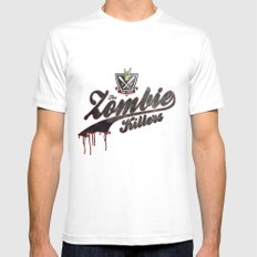The Zombie Killers White Mens Fitted Tee MEDIUM