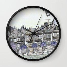 Painted Ladies Digital Drawing Wall Clock