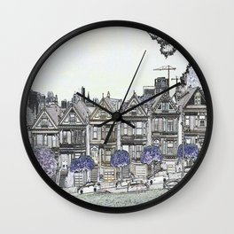 Painted Ladies Digital Drawing Wall Clock