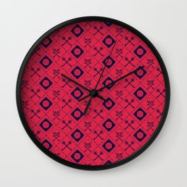 PIRATE_RED Wall Clock