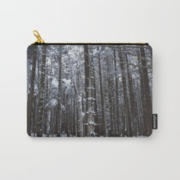 Appalachian Snowy Forest #1 Carry-All Pouch
