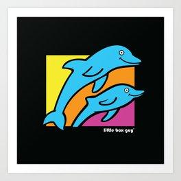Dolphins. Art Print