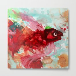 Theophilus the Fish. Metal Print