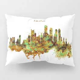 Boston watercolor skyline Pillow Sham