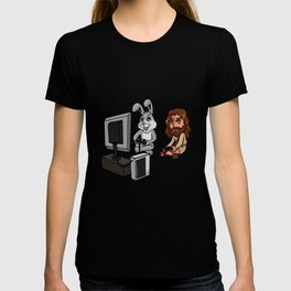 Jesus And Easter Bunny Playing Video Games Easter Gamer Gift T-shirt