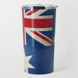 "Australian flag, retro ""folded"" textured version (authentic scale 1:2) Travel Mug"
