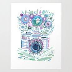 flower camera Art Print