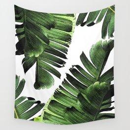 Banana Leaf - Tropical Leaf Print - Botanical Art - Modern Abstract - Green, Olive Wall Tapestry