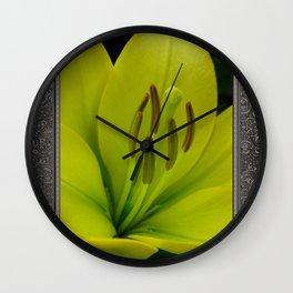 Hybrid Lily named Trebbiano Wall Clock
