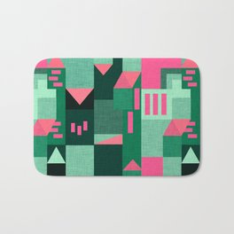 Green Klee houses Bath Mat