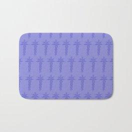 Medical ID Print (Blue) Bath Mat