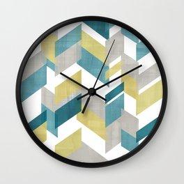 Bright geometrical pattern Wall Clock